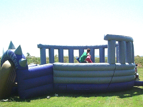 Our Gladiator Ring is the perfect place to stage your own wrestling matches - hire our sumo suits for even more fun!